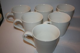 Six Royal Doulton Gordon Ramsay Maze White Mugs - $44.83