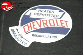 53-59 GMC/CHEVY Truck Recirculating Air Heater Box Decal - $999.99