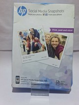 HP Social Media Snapshots Removable Sticky Photo Paper 25 sht 10 x 13 cm - $6.83