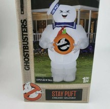 Ghostbusters Halloween Yard Inflatable 5' Stay Puft Marshmallow Man LED  - $62.36