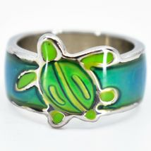 Cute Sea Turtle Two-Tone Children's Color Changing Fashion Mood Ring image 3