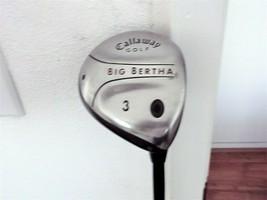 "Callaway Big Bertha RH 3-Wood. Regular Flex Graphite. W Head Cover, ""VERY GOOD"" - $44.50"