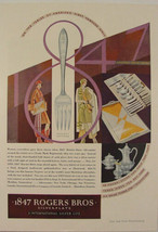 1929 Argosy Flatware 1847 Rogers Bros Print Flapper Art Print Ad - $9.99