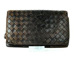 Authentic Bottega Veneta Intrecciato Bifold Wallet Purse Leather Brown I... - $137.61