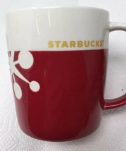 Starbucks Red White Color Block Laser Etched Star Holiday Mug Cup 2011 1... - $12.86