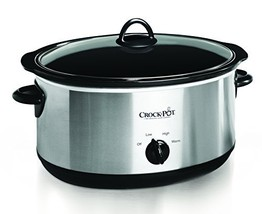 Crock-pot Oval Manual Slow Cooker, 8 quart, Stainless Steel (SCV800-S) (... - $57.97