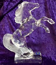 """Exquisite Cristal Sevres """"Rearing Horse"""" Figureine w/Frosted Tail & Mane... - $272.25"""