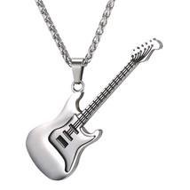 U7 Men Women Music Jewelry R&B Rock Electric Guitar Bass Pendant Necklac... - $25.99