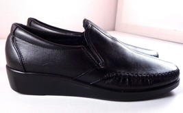 SAS Womens Loafers Dream Moccasin Black Leather Slip On Shoes Size 7.5 N... - $84.95