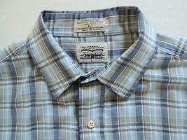 Vintage Levi Strauss & Co. Blue Plaid Button Front Western Rockabilly Sh... - $24.70