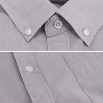 Men's Cotton Casual Short Sleeve Classic Collared Plaid Button Up Dress Shirt image 7