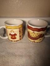 (2)  SAKURA  COFFEE MUGS / CUPS--GATHERING OF ANGELS--CHRISTMAS---FREE S... - $19.59
