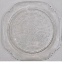 "Federal Depression Glass Clear Madrid Dinner Plate 10 3/8"" Wide Vintage - $29.70"