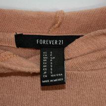 Forever 21 Terra Cotta Orange Raw Hem Cropped Long Sleeve Hooded Top Size S image 3