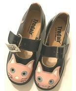 Anarchic TUK Women's Black Pink Cat Mary Jane Leather Flats Shoes Size U... - $123.75