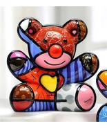 Romero Britto Happy Bear Design Figurine Rare Collectible  - $128.69
