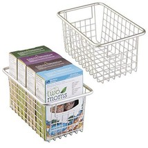 mDesign Modern Farmhouse Deep Metal Wire Storage Organizer Bin Basket wi... - $25.98
