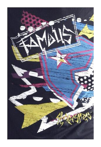 Famous Stars & Straps Noir Taka Punk Travis Barker T-Shirt Taille : Petit