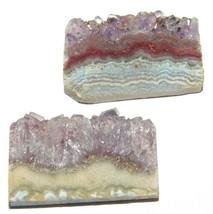 Amethyst Slice Natural Loose Gemstone Cabochon Lot Purple 58Cts. 2Pcs 33158 - $10.39