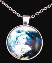 2 Lions Cabochon Necklace (13067) >> Combined Shipping - $3.71