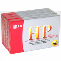 LG HP Audio Cassette Tape Lot of 4 60 Min Normal Position IEC I Type I NEW - $11.24