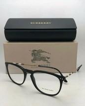 Neuf Burberry Lunettes B 2258-q 3001 55-19 145 Noir Cadre W / à Carreaux Motif