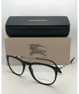Neuf Burberry Lunettes B 2258-q 3001 55-19 145 Noir Cadre W / à Carreaux... - $300.20