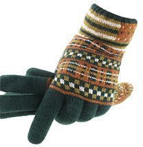 Green Autumn And Winter Man Lengthened Warm Knitted Wool Fluff Gloves - $19.44
