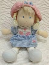 Carters Plush Doll - Sweet Daisy /Gingham Seersucker Dress Blond Pigtails - $21.77