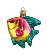 OLD WORLD CHRISTMAS TROPICAL ANGELFISH AQUARIUM PET CHRISTMAS ORNAMENT 1... - $11.88