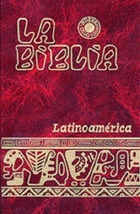 BIBLIA LATINOAMERICANA INDICES azul gran tamaño Biblia - rojo