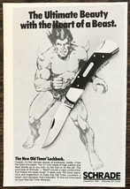 1979 Schrade Old Timer Lockback Knife PRINT AD Ultimate Beauty Heart of ... - $8.69
