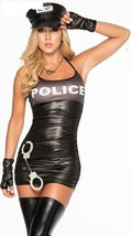 Sexy Female Police  Cosplay Party Stage Costume Set image 7