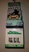parks and recreation mens casual crew socks fits shoe size 8 12 new 6 pa... - $23.95