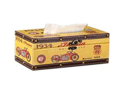 PANDA SUPERSTORE Creative Home Retro Leather Waterproof Decorative Wooden Tissue - $28.99