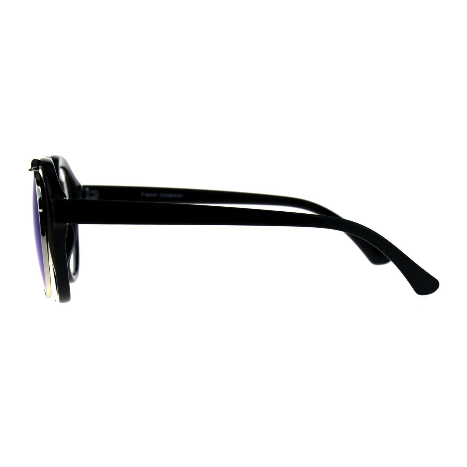 Flip Up Sunglasses Clear Lens Glasses Round Retro Unisex Fashion Shades