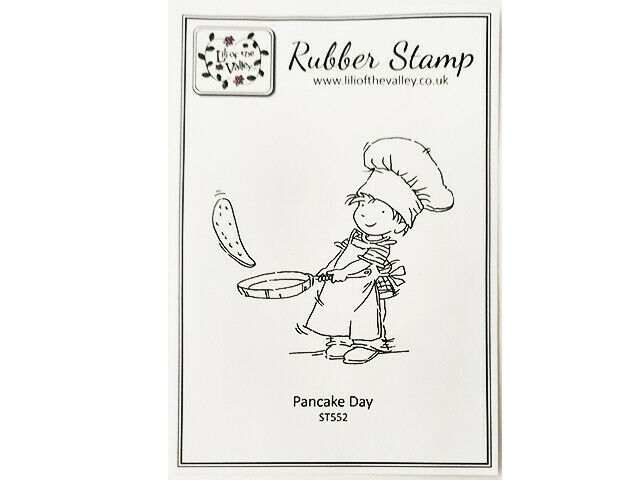 """Lili of the Valley Unmounted Rubber Stamp """"Pancake Day"""" #ST552"""