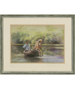 Gillian Young - Signed & Framed Contemporary Pastel, The River Boat - $147.20