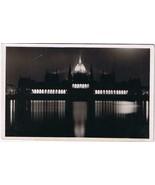 Hungary Postcard Budapest Parliament Illuminated - $4.74