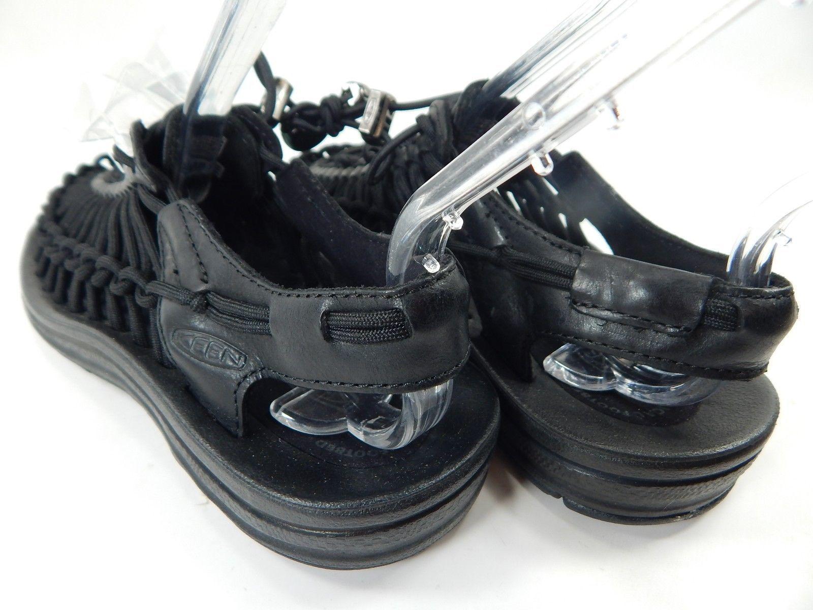 0eb0b81f2a53 Keen Uneek Leather Women s Sport Sandals Size US 7 M (B) EU 37.5 Black