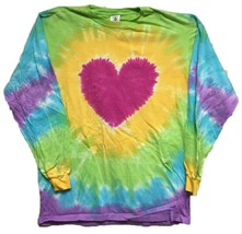 Long Sleeve Heart Tie Dye T-SHIRT Mens Womens Size Large & Xl - $17.99