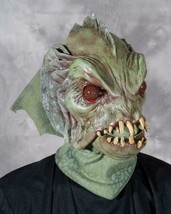 Sea Creature Mask Green Scaly Fin Movable Mouth Halloween Costume Party ... - $91.46 CAD