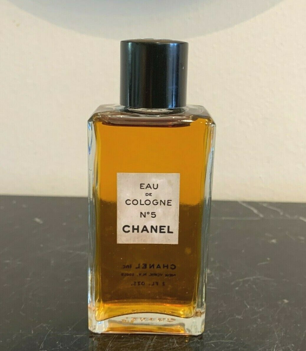 Primary image for Vintage CHANEL No 5 Eau de Cologne 2 FL OZ (59 ML) Full