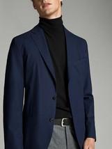 Massimo Dutti Mens Blazer Travel Slim Fit US 36 EU 46 Jacket Navy Blue NWT - $148.49