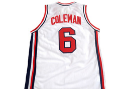Derrick Coleman #6 Team USA Men Basketball Jersey White Any Size image 2