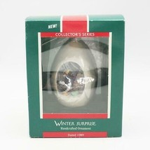 Vintage W/ Original Box Hallmark Christmas Ornament 1989 Winter Surprise - $9.89