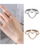 [Jewelry] Best Friend Heart Ring for Friendship Gift Stainless Steel - M... - $6.09