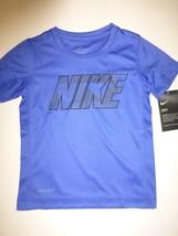 Nike Boys Hyper Royal Blue Dri Fit Short Sleeve T- Shirt New Size 4 - $12.86
