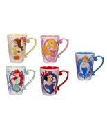 Disney Store Princess Mug Ariel Snow White Belle Cinderella Aurora 2017 New - $69.95
