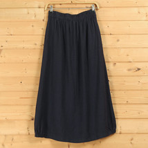 Women A Line Cotton Linen Skirts Linen Casual Skirt, Army Green Navy,  One Size image 3